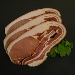 ENGLISH SLICED HOME CURED MIDDLE BACON 500gr