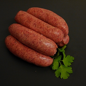 SAUSAGES BEEF ALE AND HORSERADISH (6 sausages)