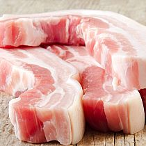 view FREE RANGE PORK BELLY SLICES 500gr details