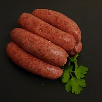 view SAUSAGES VENISON RED WINE AND HERB (6 sausages) details